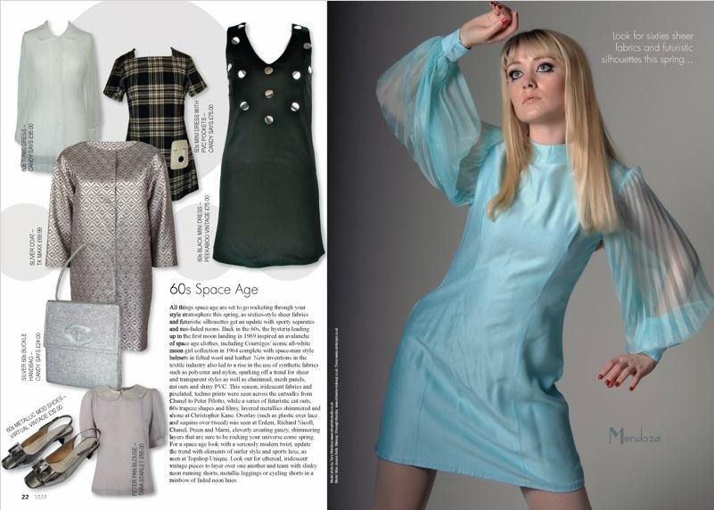 Jessica Bella modelling Sixties